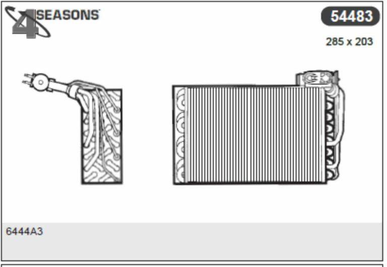 EVAPORATOR PEUGEOT 405 II R134A - FOUR SEASONS ITALY